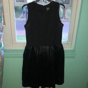 textured skater dress, silk underneath